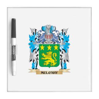 Escudo de armas de Mulcahy - escudo de la familia Pizarra Blanca