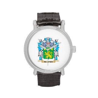 Escudo de armas de Mulcahy - escudo de la familia Relojes