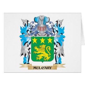 Escudo de armas de Mulcahy - escudo de la familia Felicitación