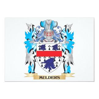 """Escudo de armas de Mulders - escudo de la familia Invitación 5"""" X 7"""""""