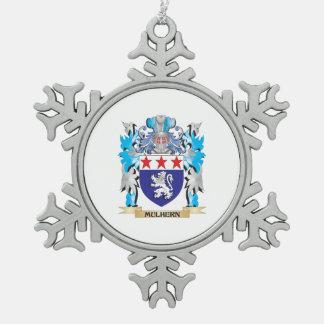Escudo de armas de Mulhern - escudo de la familia Adorno De Peltre En Forma De Copo De Nieve