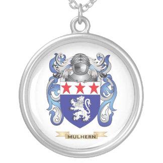 Escudo de armas de Mulhern (escudo de la familia) Colgante Redondo