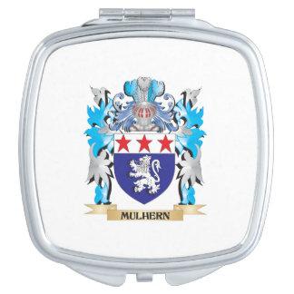 Escudo de armas de Mulhern - escudo de la familia Espejos De Maquillaje