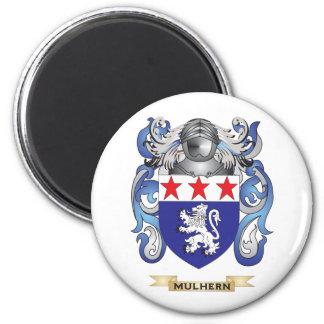 Escudo de armas de Mulhern (escudo de la familia) Imán Redondo 5 Cm