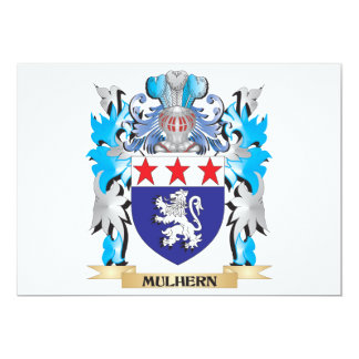 """Escudo de armas de Mulhern - escudo de la familia Invitación 5"""" X 7"""""""