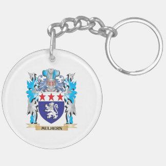 Escudo de armas de Mulhern - escudo de la familia Llavero Redondo Acrílico A Doble Cara