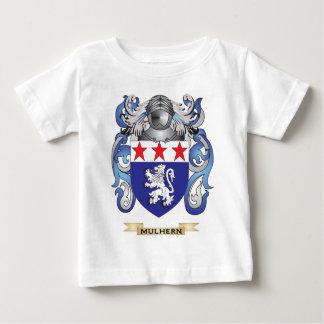 Escudo de armas de Mulhern (escudo de la familia) Playera Para Bebé