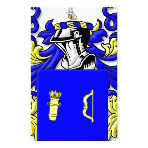 Escudo de armas de Mullaney Personalized Stationery