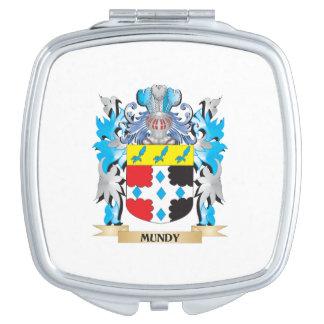 Escudo de armas de Mundy - escudo de la familia Espejos Maquillaje