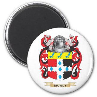 Escudo de armas de Mundy (escudo de la familia) Imán Redondo 5 Cm