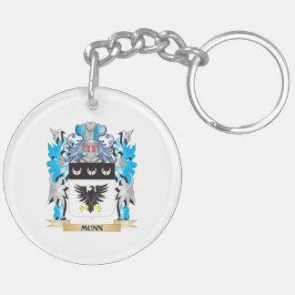 Escudo de armas de Munn - escudo de la familia Llavero Redondo Acrílico A Doble Cara