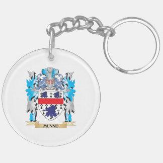 Escudo de armas de Munne - escudo de la familia Llavero Redondo Acrílico A Doble Cara