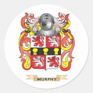 Escudo de armas de Murphy (escudo de la familia) Pegatina Redonda