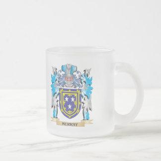 Escudo de armas de Murray - escudo de la familia Taza Cristal Mate