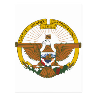 Escudo de armas de Nagorno Karabaj Postales
