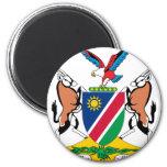 Escudo de armas de Namibia Imán Redondo 5 Cm