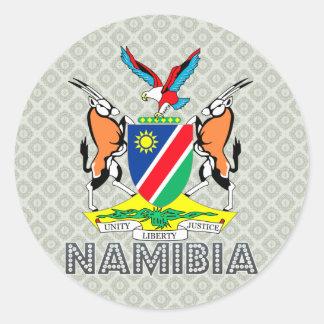 Escudo de armas de Namibia Pegatina Redonda