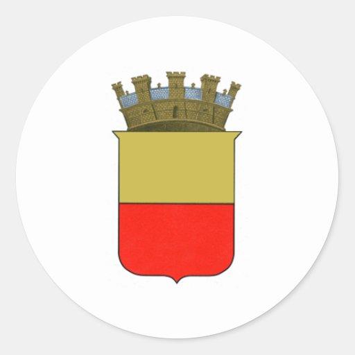 Escudo de armas de Nápoles Etiqueta Redonda