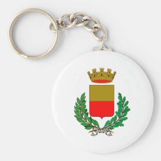 Escudo de armas de Nápoles Llavero Redondo Tipo Pin
