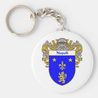 Escudo de armas de Napoli (cubierto) Llavero Redondo Tipo Pin