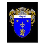 Escudo de armas de Napoli (cubierto) Postal