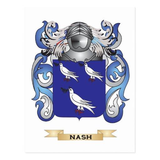 Escudo de armas de Nash (escudo de la familia) Postal