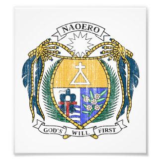 Escudo de armas de Nauru Cojinete