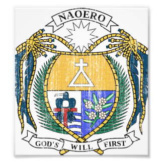 Escudo de armas de Nauru Fotografías