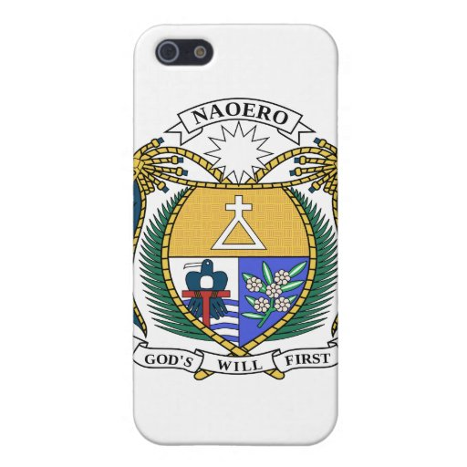 Escudo de armas de Nauru iPhone 5 Protectores