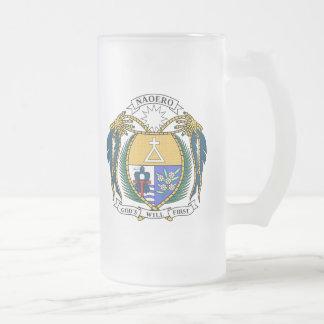 Escudo de armas de Nauru Taza De Cristal