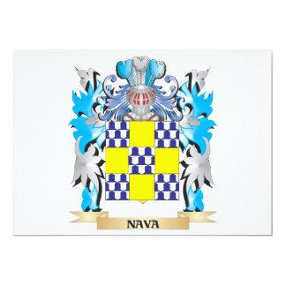 """Escudo de armas de Nava - escudo de la familia Invitación 5"""" X 7"""""""