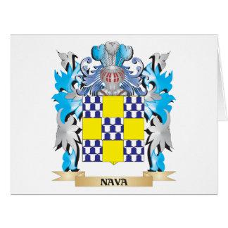 Escudo de armas de Nava - escudo de la familia Tarjeta De Felicitación Grande