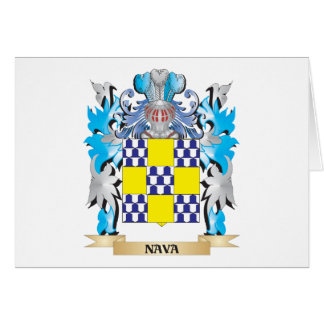 Escudo de armas de Nava - escudo de la familia Tarjeta Pequeña