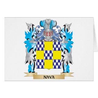 Escudo de armas de Nava - escudo de la familia Tarjeta De Felicitación