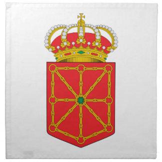 Escudo de armas de Navarra (España) Servilletas Imprimidas