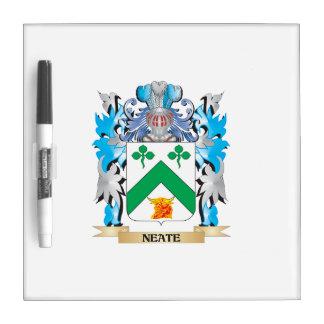 Escudo de armas de Neate - escudo de la familia Tablero Blanco