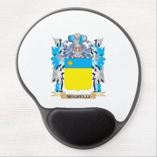Escudo de armas de Negrelli - escudo de la familia Alfombrillas De Ratón Con Gel