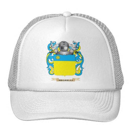 Escudo de armas de Negrelli (escudo de la familia) Gorros