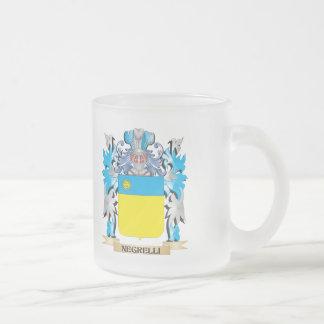 Escudo de armas de Negrelli - escudo de la familia Taza Cristal Mate