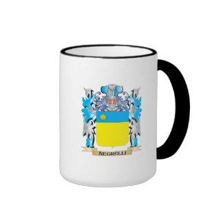 Escudo de armas de Negrelli - escudo de la familia Taza A Dos Colores
