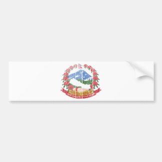 Escudo de armas de Nepal Etiqueta De Parachoque