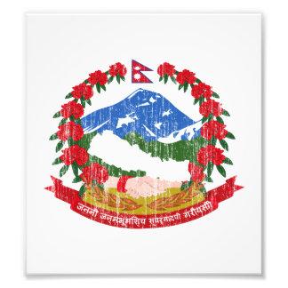 Escudo de armas de Nepal Fotografia