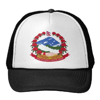 Escudo de armas de Nepal Gorros Bordados