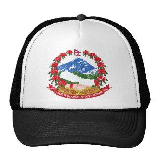Escudo de armas de Nepal Gorros
