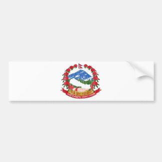 Escudo de armas de Nepal Pegatina De Parachoque