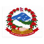Escudo de armas de Nepal Postal