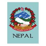 Escudo de armas de Nepal Tarjetas Postales
