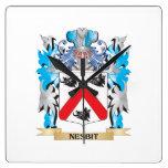 Escudo de armas de Nesbit - escudo de la familia Reloj De Pared