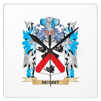 Escudo de armas de Nesbit - escudo de la familia Reloj Cuadrado