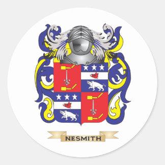 Escudo de armas de Nesmith (escudo de la familia) Pegatina Redonda